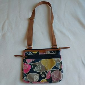 Fossil Floral Cross Body Bag